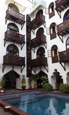 Dhow Palace Hotel, Stone Town Stone Town, Alleyway, Palace Hotel, Old Buildings, East Africa, Coast, Explore, Adventure, Mansions