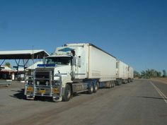 Another Aussie road train...heavy haulers with 3 or 4 trailers keep outback towns and remote livestock stations alive...