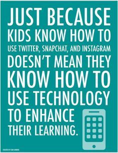 Kids and Technology. #digcit #elearning #edtech