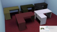 Mod The Sims: L desk by necrodog • Sims 4 Downloads