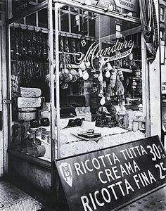 Cheese Store 1937 by Berenice Abbott