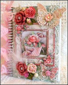 ELITE4U Georgette Shabby Style Handmade Premade Scrapbook Journal Album