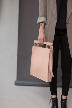 Leather bag ..natural