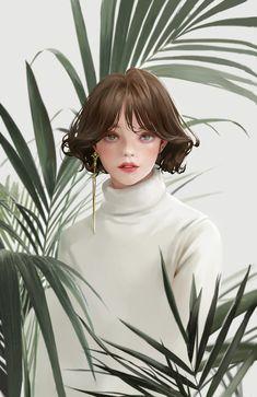doodle, Liz Son on ArtStation Digital Art Anime, Digital Art Girl, Digital Portrait, Portrait Art, Art And Illustration, Anime Art Girl, Manga Art, Pretty Art, Cute Art