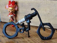 Metal Art Sculpture Motorcycle Harley by rustbelttreasures on Etsy, $45.00