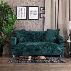 Multi-size home decoration corner sofa covers polyester couch sofa cover stretch furniture covers green embossing slipcover Sofa Bed Throws, Couch And Loveseat, Loveseat Slipcovers, Sofa Throw, Corner Sofa Covers, Corner Couch, Couch Covers, Couch Furniture, Furniture Covers