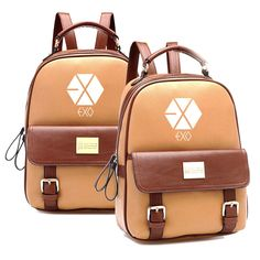 Men's Bags Cheap Sale Exo Korean Version Baekhyun Backpack Pu School Bag Floral Flower Bag Personality Small Backpack Women Backpack Leather Backpack Reliable Performance