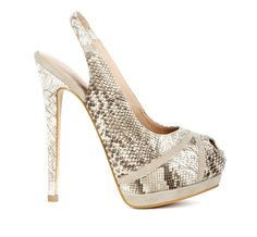 Neutral Snakeskin Pump