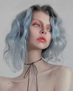 Preferred Hair Blue Hair Wig of Human Hair with Baby Hair Brazilian Lace Front Wig Short Bob Wigs for Women Short Bob Wigs, Short Bob Hairstyles, Drawing Hairstyles, 80s Hairstyles, Hairstyle Short, Long Wigs, Halloween Gesicht, Foto Fantasy, Photographie Portrait Inspiration