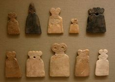 Eye Idols from Tell Brak, Syria