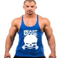 Skull Weightlifting Stringer Tank Top For Men (Muscle Tank Tops) For $14.59 + Free Shipping