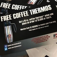 Free stainless steel coffee thermos with any $1,000 order! #fastenersdirect #fastenersdirectnews #fastenersdirectrewards #FDcoffeethermos #coffee #FREE