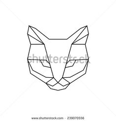 Find Geometric cat stock images in HD and millions of other royalty-free stock photos, illustrations and vectors in the Shutterstock collection. Geometric Cat Tattoo, Geometric Drawing, Geometric Shapes, Geometric Animal, Chat Origami, Cat Vector, Animal Faces, Trendy Tattoos, Small Tattoos