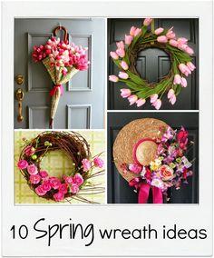 10 spring flower wreath ideas