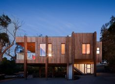 Holzhaus Eingeschoss-Clare Cousins Architekten Mornington Australien