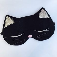 Cats Sketch How - - - - Cats Sleep Toys Drawing, Mask Drawing, Cute Sleep Mask, Sewing Crafts, Sewing Projects, Cat Sketch, Owning A Cat, Cat Sleeping, Cat Face