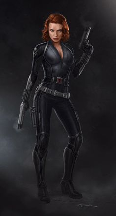 Black Widow concept art by Andy Park Marvel Concept Art, Marvel Art, Marvel Heroes, Black Widow Scarlett, Black Widow Natasha, Superhero Villains, Marvel Characters, Heros Comics, Avengers