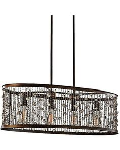 "Murray Feiss Feiss Colorado Springs 33 1/4""W Bronze 4-Light Chandelier from Lamps Plus 