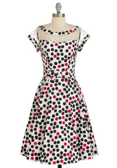 Tatyana/Bettie Page With Only a Wink Dress in Dots | Mod Retro Vintage Dresses | ModCloth.com