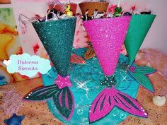best=Dulceros colas de sirenas mermaid favor party , Short prom dresses and high-low prom dresses are a flirty and fun prom dress option. Little Mermaid Birthday, Little Mermaid Parties, The Little Mermaid, Girl Birthday, Birthday Party Decorations, Party Themes, Birthday Parties, Diy Crafts For Kids, Arts And Crafts