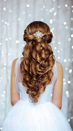 25 Elegant Half Updo Wedding Hairstyles #weddinghairstyles