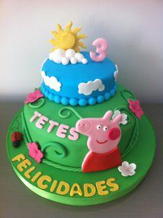 Tarta Peppa Pig elaborada por TheCakeProject en Madrid