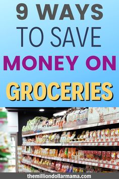 Grocery shopping on a budget doesn't need to be difficult, and you don't need to go without (unless you're trying to buy lobster and caviar - you can even get healthy groceries on a budget....) These 9 ways to save money on groceries can help you start saving right away! Healthy Groceries, Save Money On Groceries, Ways To Save Money, Healthy Lifestyle Tips, Cheap Meals, How To Stay Motivated, Eating Well, No Cook Meals