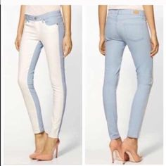 """Paige """"Emily Cloud"""" Jeans!! The Ultra Skinny Emily Jean in Cloud/White! 5'pocket silhouette. Waist is 29, Inseam is 29'. 98% cotton and 2% Elastane. Super chic. trades. Paige Jeans Jeans Skinny"""