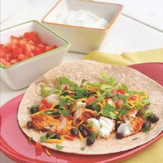 Fish taco - on low carb tortilla-Or try as a lettuce wrap