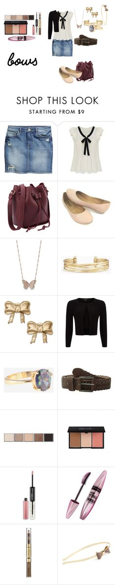 """Bow-tastic"" by wynonnamaree ❤ liked on Polyvore featuring H&M, LC Lauren Conrad, Stella & Dot, Phase Eight, Will Leather Goods, Bobbi Brown Cosmetics, MAC Cosmetics, Maybelline, Revlon and L. Erickson"