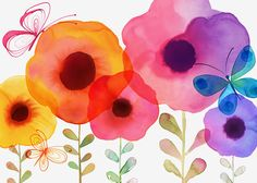 Margaret Berg Art: Poppy Ombre