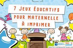Jeux éducatifs maternelle à imprimer pour les enfants à partir de 3 ans. Voici des activités éducatives Montessori à télécharger en cliquant ici