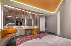 sneek peek at new design hotel in Holland by Karim Rashid TBC 2017