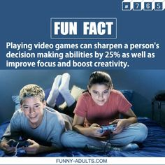 Fun Fact of the Day : Video games fact.  More fun facts on funny-adults.com