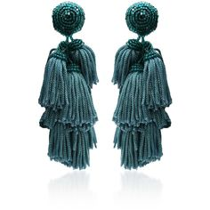 ChaCha Fringe Earrings | Moda Operandi ($250) ❤ liked on Polyvore featuring jewelry, earrings, earring jewelry, layered jewelry, fringe earrings, fringe jewelry and earrings jewellery