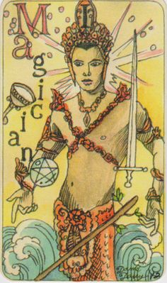 Dame Darcy Mermaid Tarot - The Magician. Major Arcana. tarot cards. divination. fortune telling. oracle. Get her beautiful deck at her DameDarcy shop on Etsy!