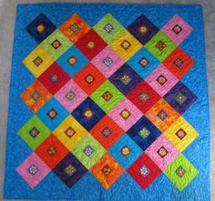 Quilts for Sale. Quilts made by American and Canadian quilters. Place to buy and sell quilts online. Quilts For Sale, Painted Flowers, Easter, Hand Painted, Bright, Blanket, Spring, Crochet, Gifts