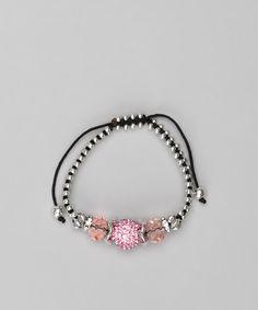 Amethyst Braided Crystal Ball Bracelet