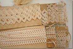 Vintage cream colored rick rack trims