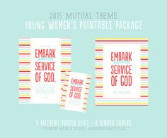 2015 Mutual Theme LDS Young Women's Printable by alexazdesign  Embark, YW, LDS, 2015 theme, Binder Covers, Invitations, Bookmarks and MORE!!
