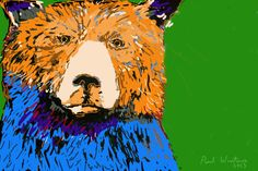 Grizzly Bear - Giclee Print from a painting by Paul Winters