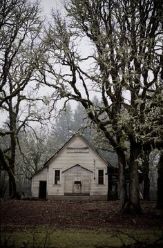 abandoned school house.