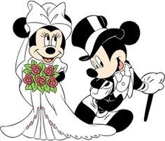 Imagens de Casamento do Mickey e da Minnie Noivos!