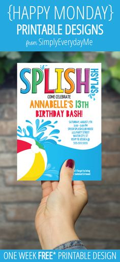 Pool Party Invitation - Free printable party invites from wwwbest - best of invitation templates for beach party