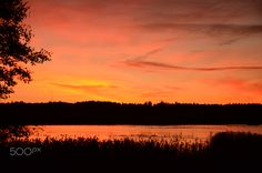 captured the monent - It was truly amazing color of the sky. I captured it from Otaniemi, Espoo, Finland
