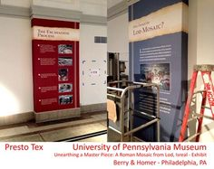 Wallcovering made with Presto Tex at Penn Museum in Philadelphia, PA