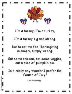 Turkey Acrostic Poem | Thanksgiving Crafts | Pinterest
