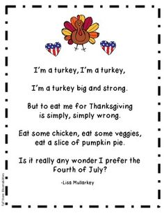 Freebie original poem for Thanksgiving. Perfect for Buddy Reading/poetry binders/fluency. Enjoy!