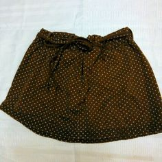 New Listing-American Outfitters skirt Mini brown and white polka dot mini skirt with tie front. Open for bundles. American Outfitters Skirts