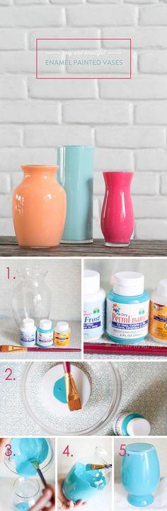 Glossy Retro Upcycled Pastel Ceramics